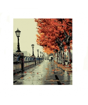 Set pictura pe numere Peisaj de toamna stradal