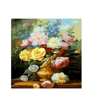 Set pictura pe numere Vaza cu flori colorate