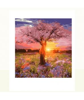 Set pictura pe numere Copac cu roz