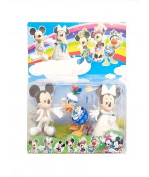Set figurine Minnie, Micky,Donald