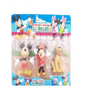 Set figurine Minnie, Micky, Pluto
