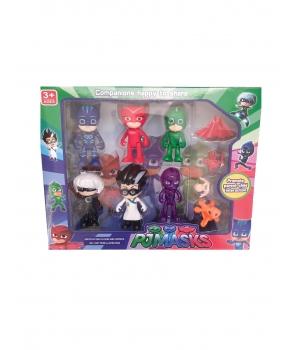 Set figurine Eroi in Pijama cu accesorii