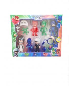 Set Jucarii Eroi in Pijama figurine si accesorii