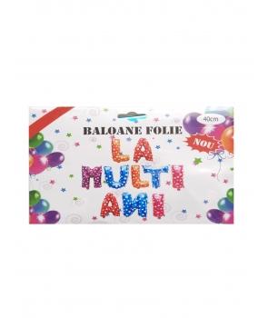 Set baloane folie La multi ani-multicolor