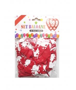 Set 20 baloane latex cu mesajul Te iubesc