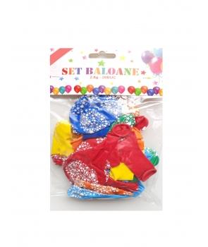 Set 20 baloane latex cu stelute
