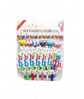 Set 6 suflatori colorate