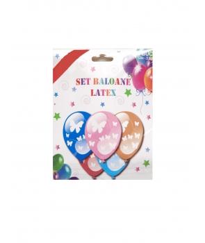 Set 6 baloane latex cu fluturi