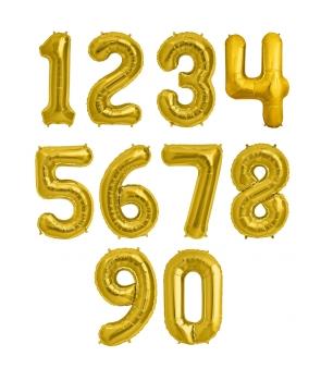 Baloane petrecere cifra aurii,35cm