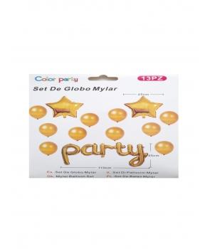 Set baloane petrecere Party auriu