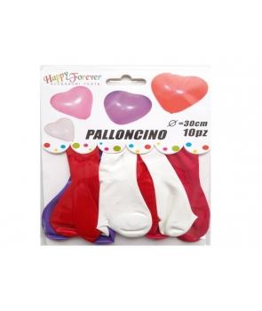 Set baloane latex inima culori asortate