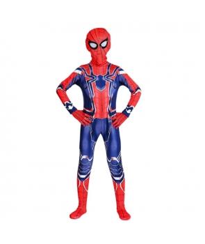 Costum carnaval copii Spiderman Infinity War mulat