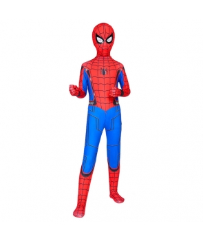 Costum carnaval Spiderman mulat cu cagula, manusi si acoperitoare picioare