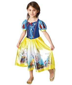 Costum carnaval Alba ca zapada cu imprimeu