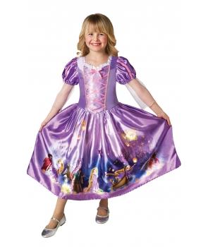 Costum carnaval fete Rapunzel cu imprimeu