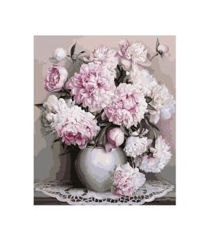 Set pictura numere Vaza cu flori mov