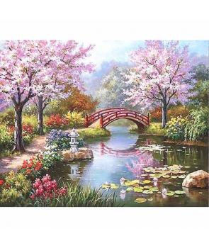 Set pictura pe numere Peisaj de primavara in padure