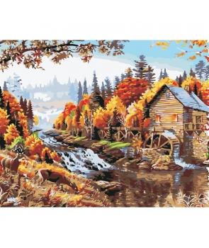 Set pictura pe numere Peisaj de munte toamna