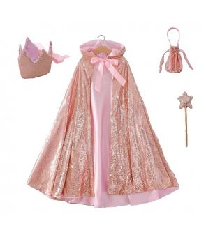 Set fete Pelerina roz si accesorii