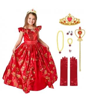 Costum carnaval fete Elena din Avalor cu accesorii