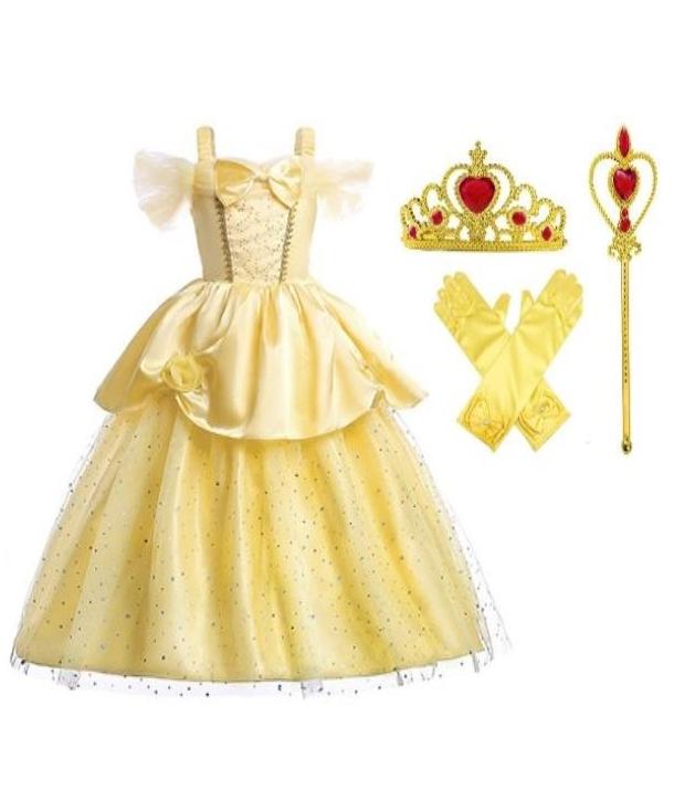 Costum carnaval fete Belle cu accesorii