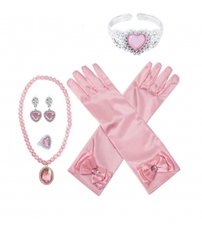 Set accesorii printesa cu manusi roz
