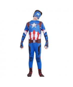 Costum carnaval copii Capitan America mulat, cu masca
