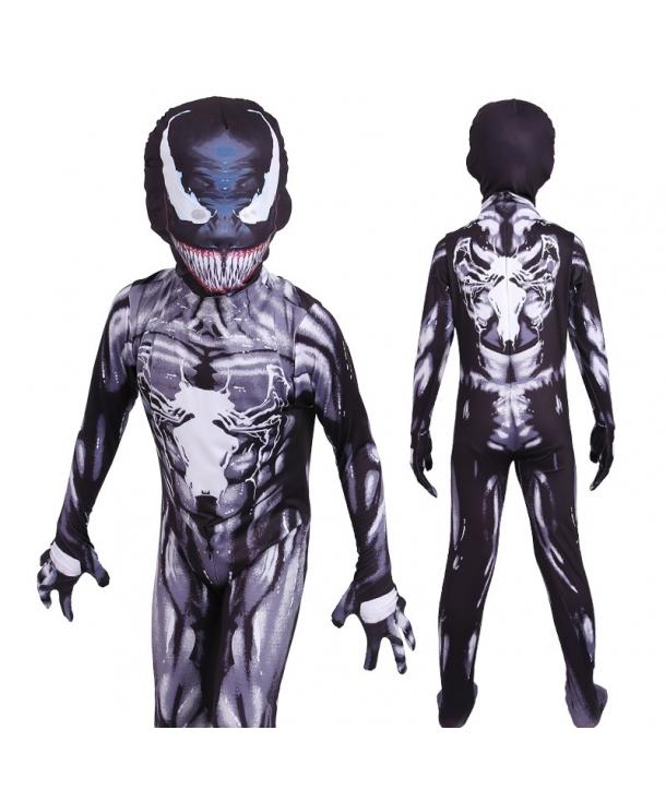 Costum carnaval copii Venom, negru,mulat