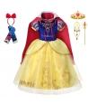 Costum carnaval fete Alba ca zapada cu pelerina si accesorii