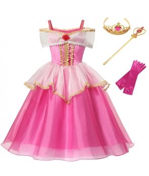 Costum carnaval fete Aurora cu accesorii