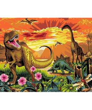 Set pictura pe numere Dinozauri, 40*50cm