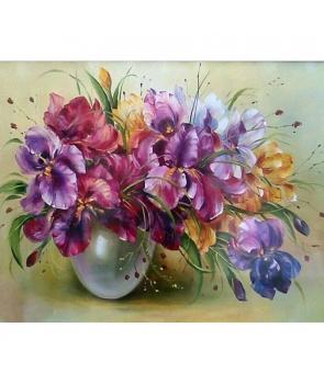 Set pictura pe numere Vaza cu panselute, 40*50cm