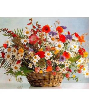 Set pictura pe numere Cos cu flori, 40*50cm