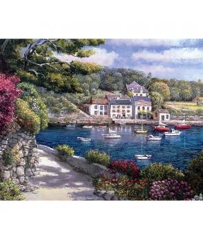 Set pictura pe numere Barci la malul apei, 40*50cm