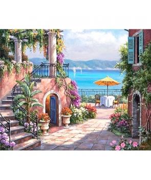 Set pictura pe numere Peisaj de Vacanta, 40*50cm