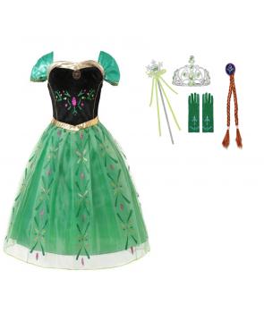 Costum carnaval Anna Frozen cu accesorii