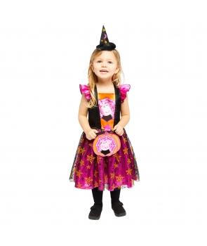 Costum carnaval fete Peppa vrajitoare