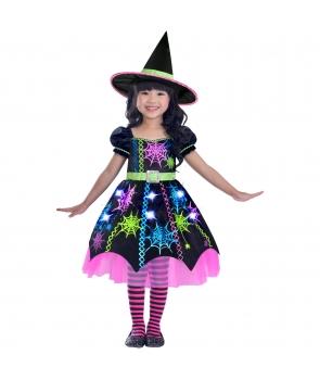 Costum halloween fete Vrajitoare paianjen