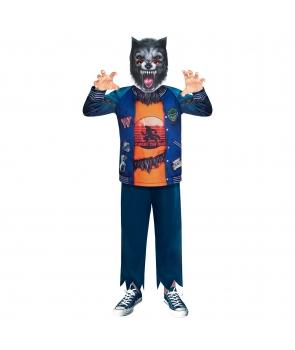 Costum Halloween baieti varcolac cu masca