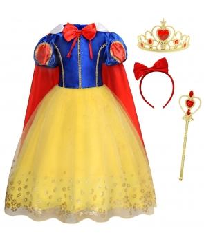 Costum carnaval fete Alba ca zapada cu pelerina