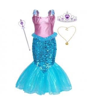 Costum carnaval fete Sirena cu colier