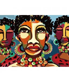 Set pictura pe numere Femei africane