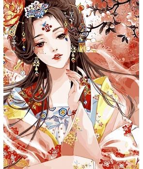 Set pictura pe numere Frumusete Asiatica