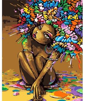 Set pictura pe numere Frumusete africana