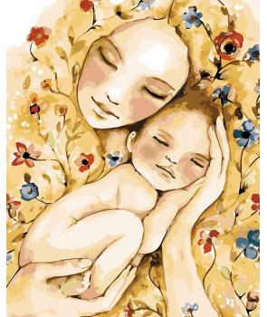 Set pictura pe numere Mama si pruncul