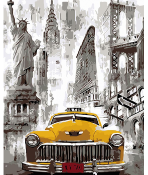 Set pictura pe numere Taxi in New York