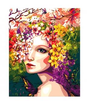 Set pictura pe numere Zana Primavara