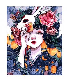 Set pictura pe numere Gheisa cu masca