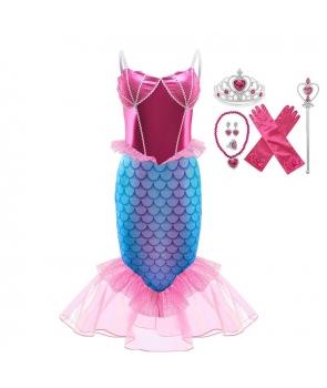 Costum carnaval fete Sirena cu accesorii