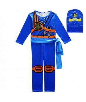Costum carnaval copii Lego Ninjago, Ninja albastru